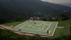 Aerial Dona Marta hills and forest Rio de Janeiro city Stock Footage