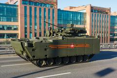 armored personnel carrier BTR kurganets-25 - stock photo