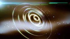 Abstract lighting flow rings animation Stock Footage