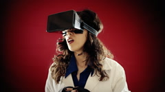 Virtual reality doctor patient examine Stock Footage