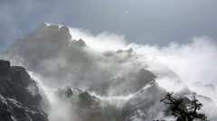 Scenic view of mountains, Kanchenjunga Region, Himalayas, Nepal. Stock Footage