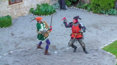 Strong fight between two knights Stock Footage