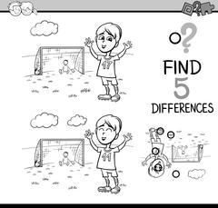 Preschool activity coloring book Stock Illustration