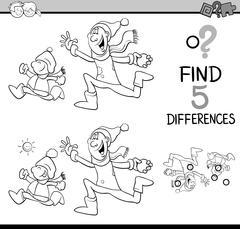 Preschool task coloring book Stock Illustration