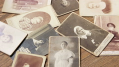 Retro portraits of pre-revolutionary Russia Stock Footage