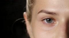 Stylist is using hair fixation spray. Closeup - stock footage