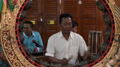 Music In A Buddhist Temple - stock footage