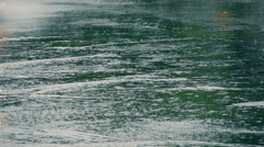 Water spray from vehicles driving through the puddles, slow motion 2 Stock Footage