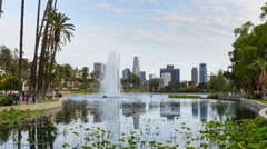 Downtown Los Angeles And Echo Park Day Timelapse Medium Stock Footage