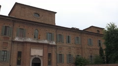Collegio Cairoli and San Francesco Church in Pavia, PV, Italy Stock Footage