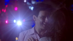 Couple dances slow and passionately Stock Footage