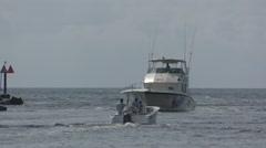 Fishing boat returning Stock Footage