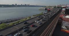 Morningside Hights & Harlem Aerial Stock Footage