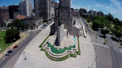 Argentina Flag Memorial Aerial View Stock Footage