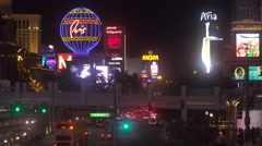 Classic Las Vegas Strip Establishing Shot - 4K Circa 2016 Stock Footage