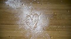 Heart love shape in kitchen Stock Footage