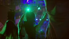 Girl dancing at concert Stock Footage