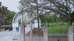Louis Armstrong Park in New Orleans Stock Footage