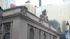 Grand Central Station Pan Down Slow Stock Footage