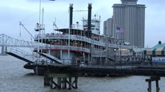 Natchez Paddle Streamer on Mississippi River in New Orleans Stock Footage