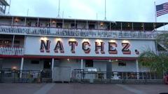 Natchez paddle steamer on Mississippi River - stock footage