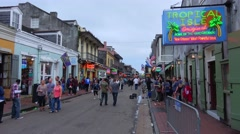 Famous Bourbon Street French Quarter New Orleans Stock Footage