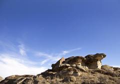 Badlands Alberta  hoo doo - stock photo