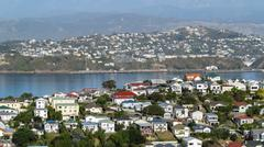Evans Bay suburbs, Wellington New Zealand. Stock Photos