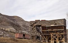 Abandoned Coal Mine Stock Photos