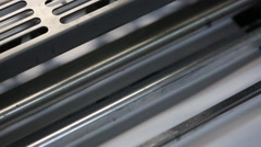 Moving printing machine mechanisms, printing press Stock Footage