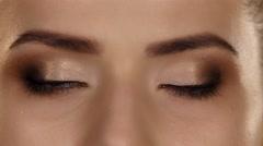 Makeup. Professional makeup. Closeup Stock Footage