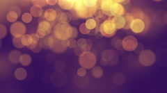 Beautiful Bokeh Glowing Particles Motion Background Full HD - stock footage