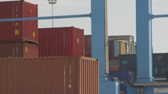 Detail Of Container Port Gantry Crane - stock footage