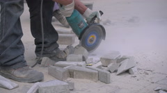 Stone Sawing Stock Footage