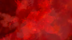 Abstract mysterious scarlet air matter. Stock Footage