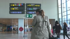 Airline passengers at the Airport. Stock Footage