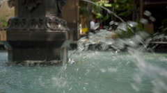 Water in a Fountain Close-Up Stock Footage