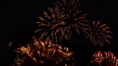 Fireworks. Holiday celebration. Time lapse footage. Stock Footage