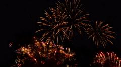 Fireworks. Holiday celebration. Time lapse footage. Stock Footage