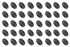 Round Button Series, 3 D Unlabeled with marble structure - stock illustration