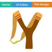 Flat design icon of hunting  slingshot Stock Illustration
