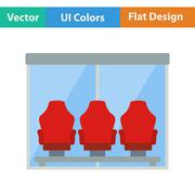 Icon of football player's bench Stock Illustration
