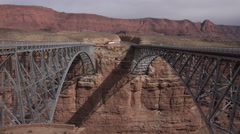 4K Car Drives Across Newer Navajo Bridge Built For Vehicles - stock footage
