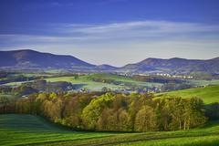Mountainous country Czech Republic Stock Photos