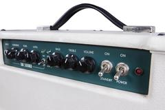 Electric guitar amplifier controllers - stock photo