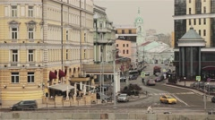 Old Street On The Shore Stock Footage