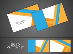 vector business cards - stock illustration