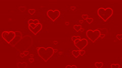 Seamless Hearts Motion Background Version 1 Red Stock Footage