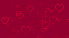 Seamless Hearts Motion Background Version 1 Pink - stock footage