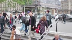 Paris Metro Station Time Lapse People, France - stock footage